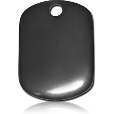 BLACK PVD COATED SURGICAL STEEL WIRE CUT PENDANT