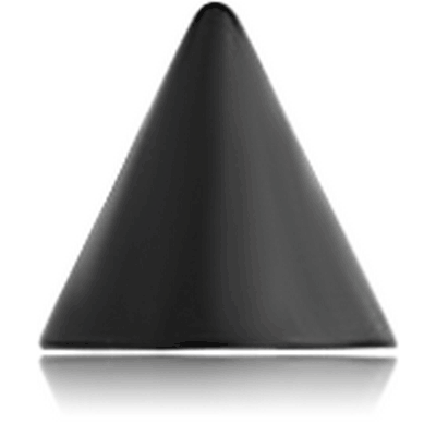 BLACK PVD COATED SURGICAL STEEL CONE