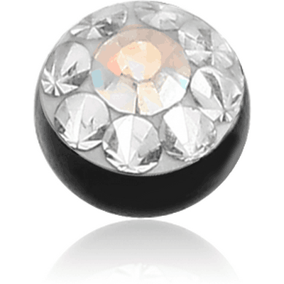 BLACK PVD COATED CRYSTALINE JEWELLED BALL