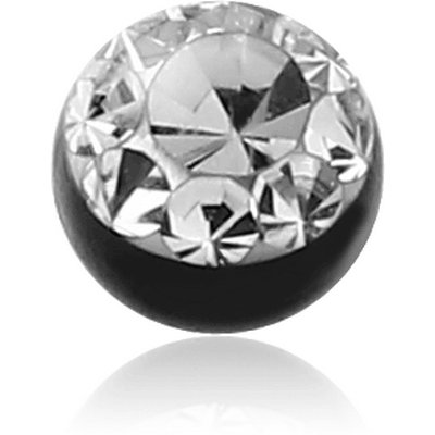 BLACK PVD COATED VALUE CRYSTALINE JEWELLED BALL