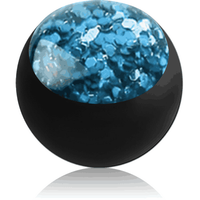 BLACK PVD COATED SURGICAL STEEL GLITTERLINE BALL