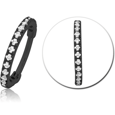 BLACK PVD COATED SURGICAL STEEL PRONG SET CRYSTAL JEWELLED MULTI PURPOSE CLICKER