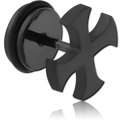 BLACK PVD COATED STAINLESS STEEL FAKE PLUG-STAR