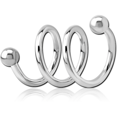 SURGICAL STEEL 3TURN SPIRAL BARBELL