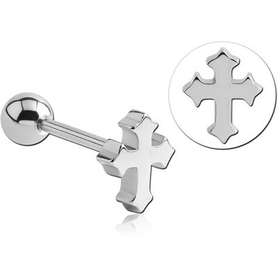 SURGICAL STEEL BARBELL - CROSS