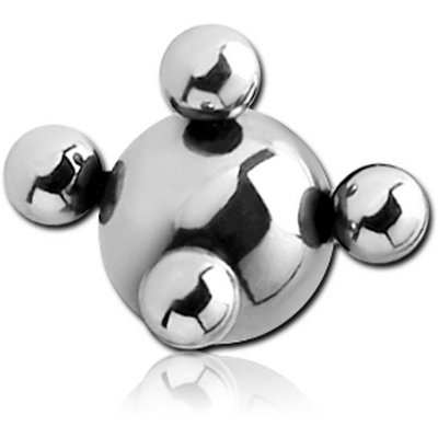 SURGICAL STEEL MULTIBALL FOR BALL CLOSURE RING
