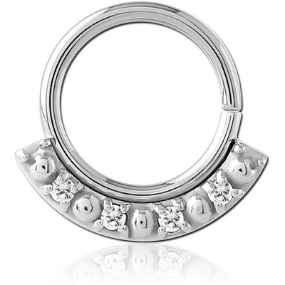 SURGICAL STEEL JEWELLED SEAMLESS RING