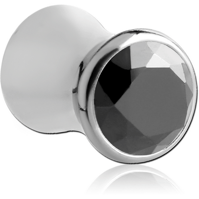 SURGICAL STEEL JEWELLED DOUBLE FLARED PLUG