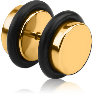 GOLD PVD COATED SURGICAL STEEL FAKE PLUG