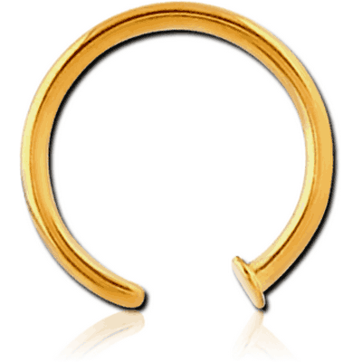 GOLD PVD COATED SURGICAL STEEL OPEN NOSE RING