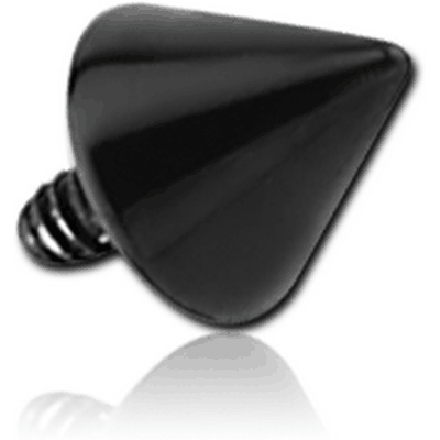 BLACK PVD SURGICAL STEEL CONE FOR 1.6MM INTERNALLY THREADED PIN