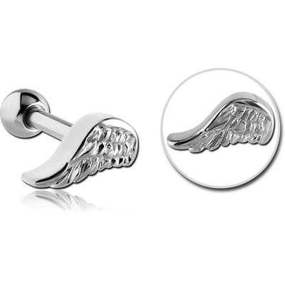 SURGICAL STEEL TRAGUS MICRO BARBELL - WING
