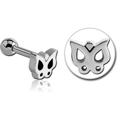 SURGICAL STEEL TRAGUS MICRO BARBELL - BUTTERFLY