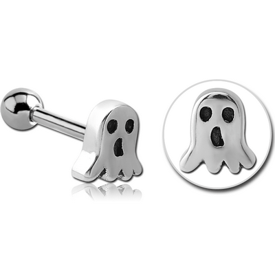 SURGICAL STEEL TRAGUS MICRO BARBELL- GHOST