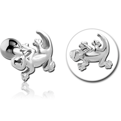 SURGICAL STEEL TRAGUS MICRO BARBELL - SALAMANDER