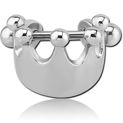 SURGICAL STEEL CARTILAGE SHIELD - CROWN