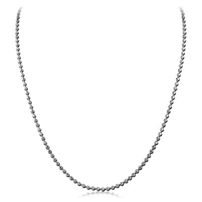 STAINLESS STEEL DIAMOND CUT BALL NECK CHAIN 50CMS*2.4MM