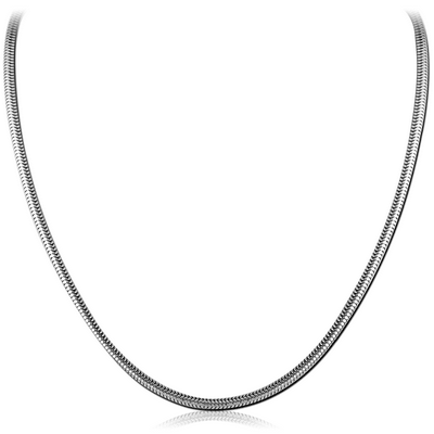 STAINLESS STEEL SNAKE NECK CHAIN 45CMS WIDTH*2.4MM