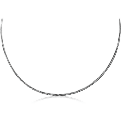 STERLING SILVER 925 CURB NECK CHAIN 40CMS WIDTH*1.25MM