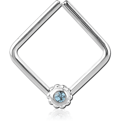 SURGICAL STEEL OPEN SQUARE SEAMLESS RING