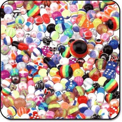 VALUE PACK OF MIX UV ACRYLIC BALLS FOR 1.2MM