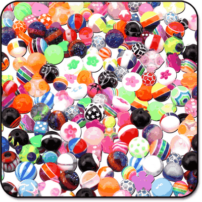 VALUE PACK OF MIX UV ACRYLIC BALLS FOR 1.6MM