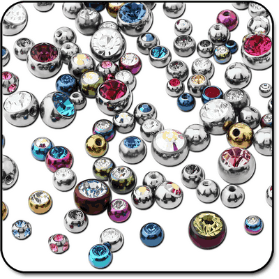 VALUE PACK OF MIX TITANIUM JEWELED BALLS FOR 1.6 MM