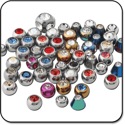 VALUE PACK OF MIX TITANIUM JEWELED BALLS FOR 1.2MM