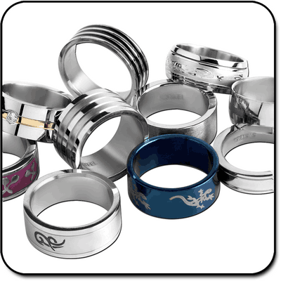 VALUE PACK OF MIX PACK OF STAINLESS STEEL WOMENS SIZE RINGS