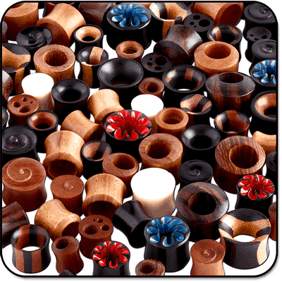 VALUE PACK OF MIX ORGANIC PLUGS EXPANDERS AND TUNNELS