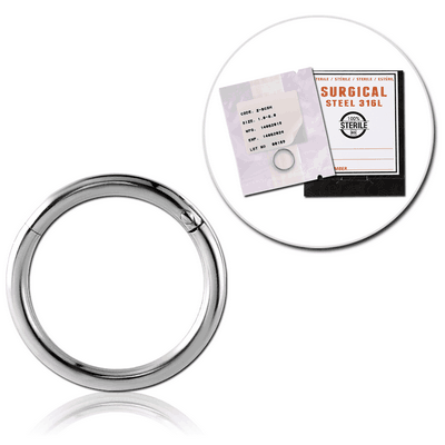 STERILE SURGICAL STEEL HINGED SEGMENT RING