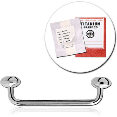 STERILE TITANIUM 90 DEGREE STAPLE MICRO BARBELL WITH DISC