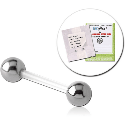 STERILE BIOFLEX BARBELL WITH STEEL BALLS