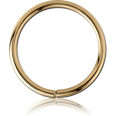 ZIRCON GOLD PVD COATED SURGICAL STEEL SEAMLESS RING