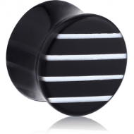 UV ACRYLIC DOUBLE FLARED PLUG WITH LINE PATTERN