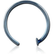 ANODISED SURGICAL STEEL OPEN NOSE RING PIERCING