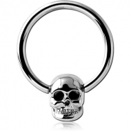SURGICAL STEEL BALL CLOSURE RING WITH ATTACHMENT - SKULL PIERCING