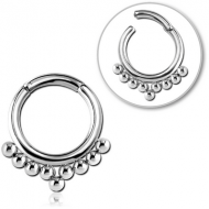 SURGICAL STEEL HINGED SEGMENT RING PIERCING