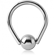 SURGICAL STEEL TEAR DROP BALL CLOSURE RING PIERCING