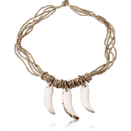 ORGANIC WOODEN NECKLACE BALI