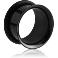 BLACK PVD COATED STAINLESS STEEL SINGLE FLARED TUNNEL PIERCING