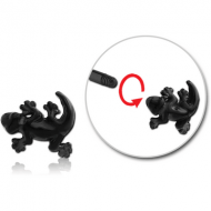 BLACK PVD COATED SURGICAL STEEL MICRO THREADED SALAMANDER ATTACHMENT