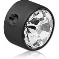 BLACKLINE TITANIUM JEWELED DISC FOR BALL CLOSURE RING