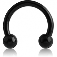 BLACK PVD COATED SURGICAL STEEL MICRO CIRCULAR BARBELL