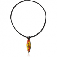 ORGANIC WOODEN NECKLACE SURFBOARD