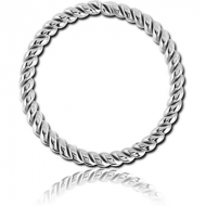 SURGICAL STEEL SEAMLESS RING - TWIST PIERCING