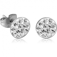 PAIR OF SURGICAL STEEL CRYSTALINE JEWELLED EAR STUDS