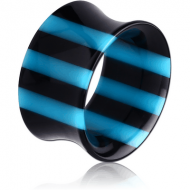 ACRYLIC DOUBLE FLARED STRIPED TUNNEL