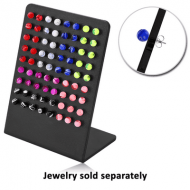 DISPLAY-ACRYLIC STAND WITH LEG FOR 36 PAIR OF EAR STUDS PIERCING