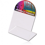 ACRYLIC DISPLAY FOR 16 INTERNAL LABRETS WITH STICKER040 PIERCING